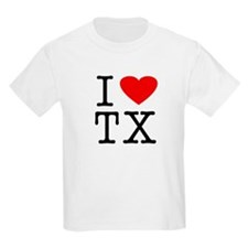 I Love Texas (TX) Kids T-Shirt