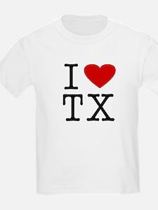I Love Texas (TX) Kids T-Shirt