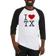 I Love Texas (TX) Baseball Jersey