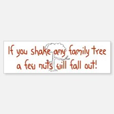 Shaking Family Tree (Red) Bumper Bumper Bumper Sticker