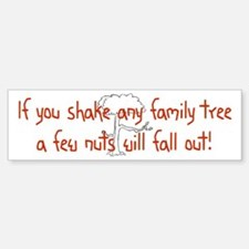 Shaking Family Tree (Red) Bumper Bumper Stickers