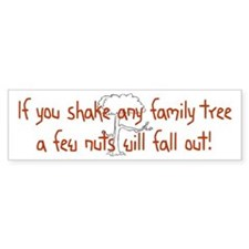Shaking Family Tree (Red) Bumper Car Sticker