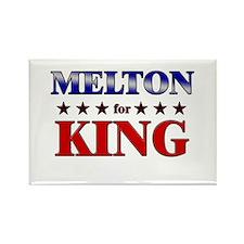 MELTON for king Rectangle Magnet