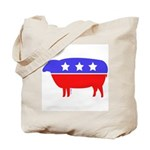 Fibertarian Party Knitting Tote Bag