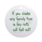 Shaking Family Tree (Green) Ornament (Round)