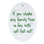 Shaking Family Tree (Green) Oval Ornament