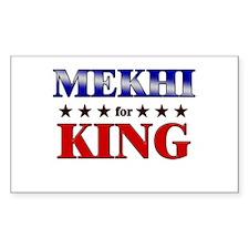 MEKHI for king Rectangle Decal