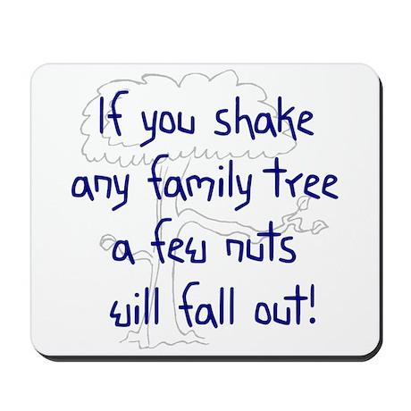 Shaking Family Tree (Blue) Mousepad
