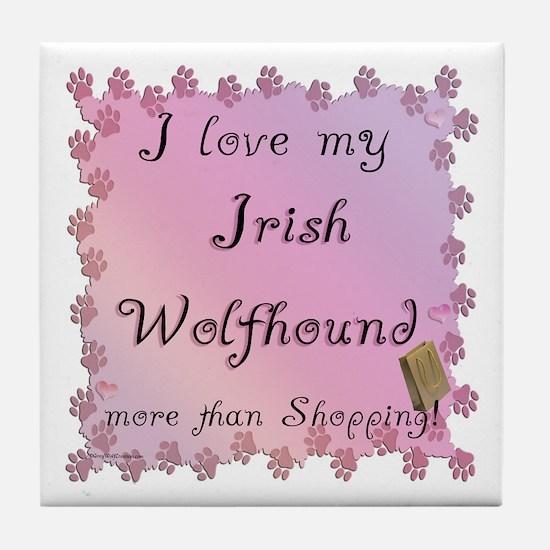 Wolfhound Shopping Tile Coaster