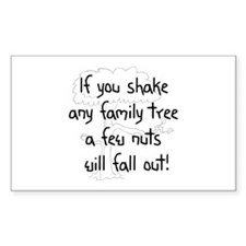 Shaking Family Tree (Black) Rectangle Decal