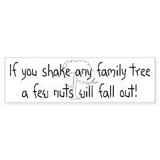 Shaking Family Tree (Black) Bumper Bumper Sticker