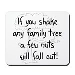 Shaking Family Tree (Black) Mousepad