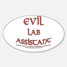Evil Lab Assistant Oval Decal