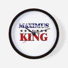 MAXIMUS for king Wall Clock