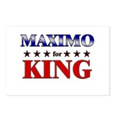 MAXIMO for king Postcards (Package of 8)