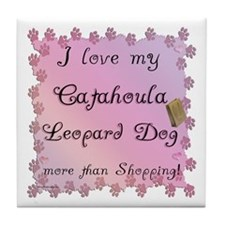 Catahoula Shopping Tile Coaster