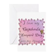 Catahoula Shopping Greeting Card