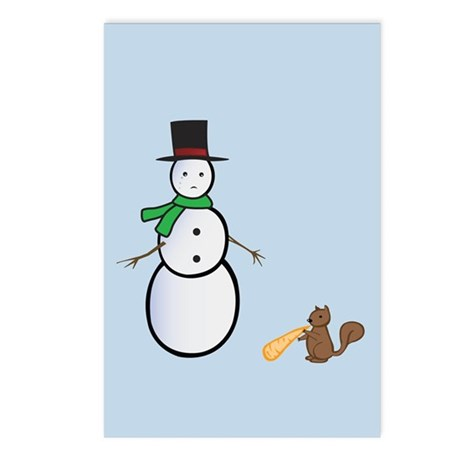 Sad Snowman Postcards (Package of 8)