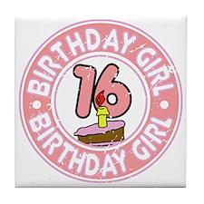 Birthday Girl #16 Tile Coaster