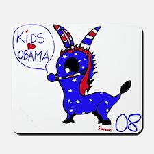 Kids Love Obama Mousepad