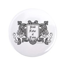 "Father of Twins - 3.5"" Button"