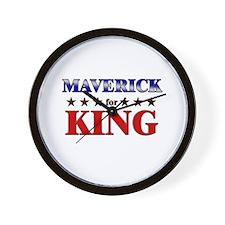 MAVERICK for king Wall Clock