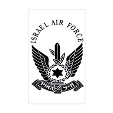 Israel Air Force Black Rectangle Decal