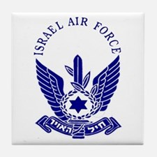 Israel Air Force Blue Tile Coaster