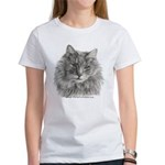 TG, Long-Haired Gray Cat Women's T-Shirt