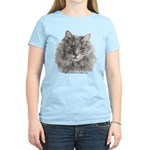 TG, Long-Haired Gray Cat Women's Light T-Shirt
