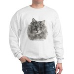 TG, Long-Haired Gray Cat Sweatshirt