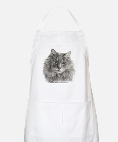 TG, Long-Haired Gray Cat BBQ Apron
