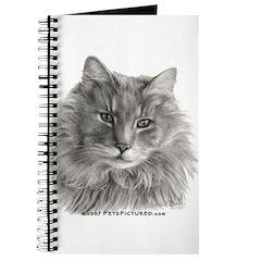 TG, Long-Haired Gray Cat Journal