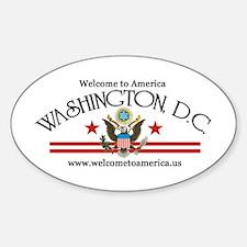 Washington, DC Oval Decal