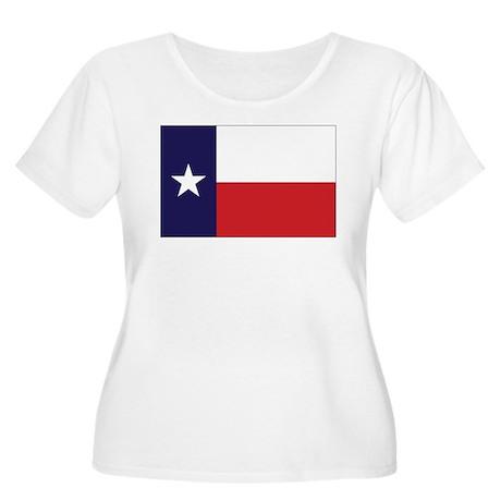 Texas Flag Women's Plus Size Scoop Neck T-Shirt