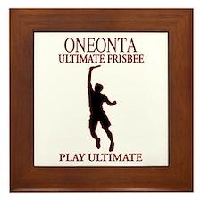 Oneonta Ultimate Frisbee Framed Tile