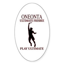 Oneonta Ultimate Frisbee Oval Decal