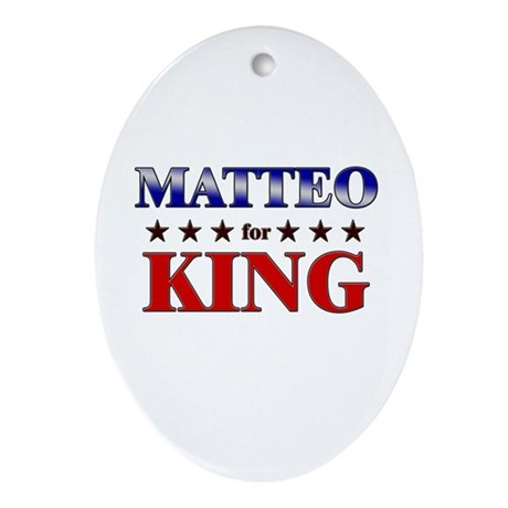 MATTEO for king Oval Ornament