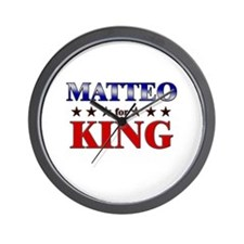 MATTEO for king Wall Clock
