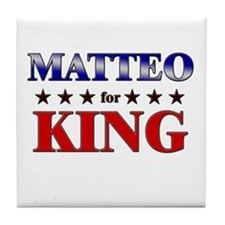 MATTEO for king Tile Coaster