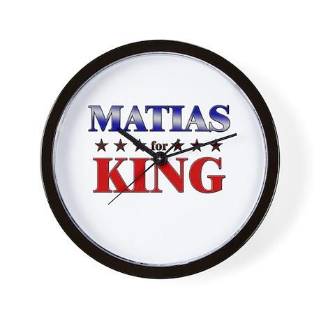MATIAS for king Wall Clock