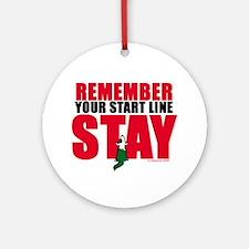 Start Line Stay Ornament (Round)