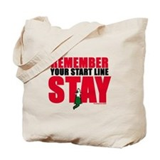 Start Line Stay Tote Bag