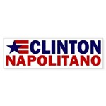 Clinton-Napolitano Bumper Sticker