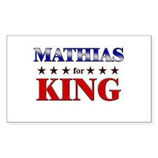 MATHIAS for king Rectangle Decal