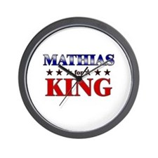 MATHIAS for king Wall Clock