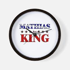 MATHIAS for king Wall Clock