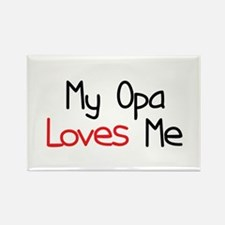 My Opa Loves Me Rectangle Magnet
