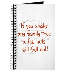 Shaking Family Tree (Red) Journal