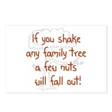 Shaking Family Tree (Red) Postcards (Package of 8)
